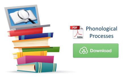 Download Phonological Processes PDF